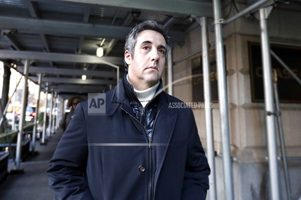 WASHINGTON | Congress to probe whether Trump told lawyer Cohen to lie
