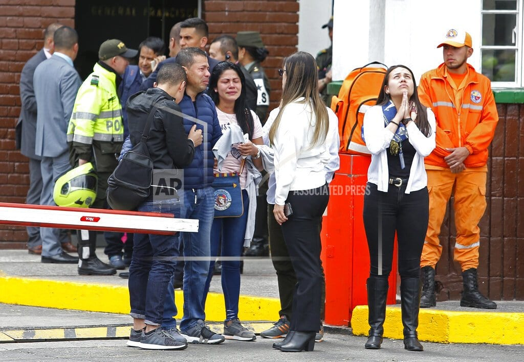 BOGOTA, Colombia | 9 dead in car bombing at police academy in Colombia capital