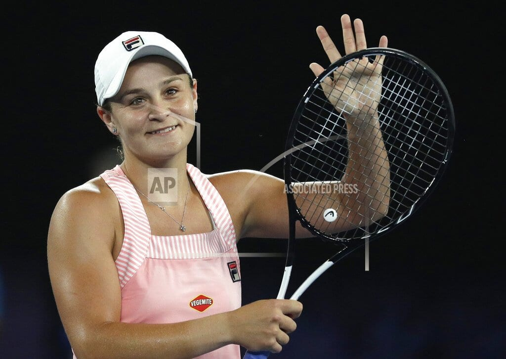 MELBOURNE, Australia  | The Latest: Ashleigh Barty into 4th round at Australian Open