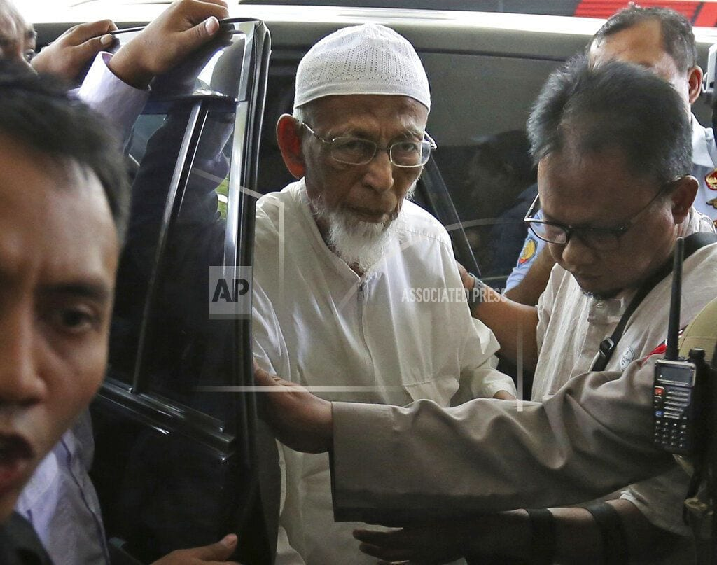 JAKARTA, Indonesia | Indonesia cleric to be freed despite holding to radicalism