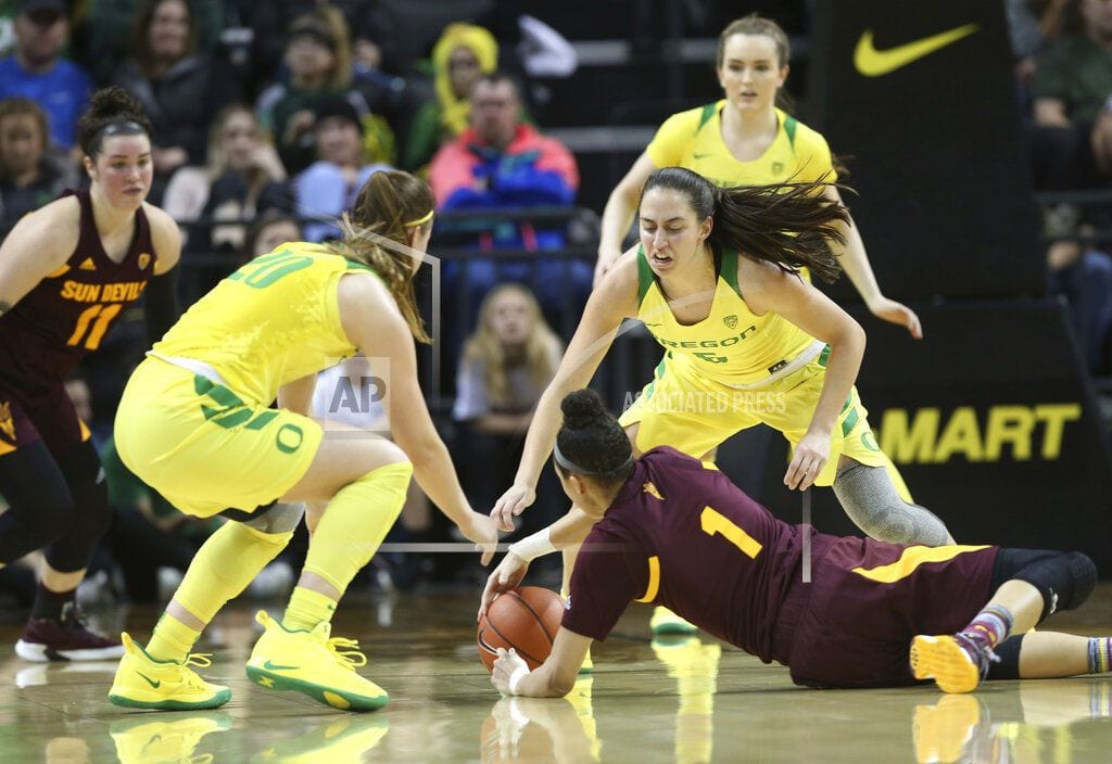 EUGENE, Ore | Ionescu scores 31, No. 5 Ducks top No. 19 Sun Devils 77-71