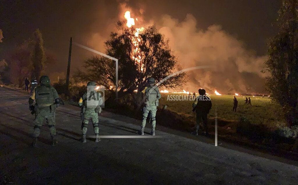 TLAHUELILPAN, Mexico | Death toll reaches 79 in Mexico fuel pipeline fire horror