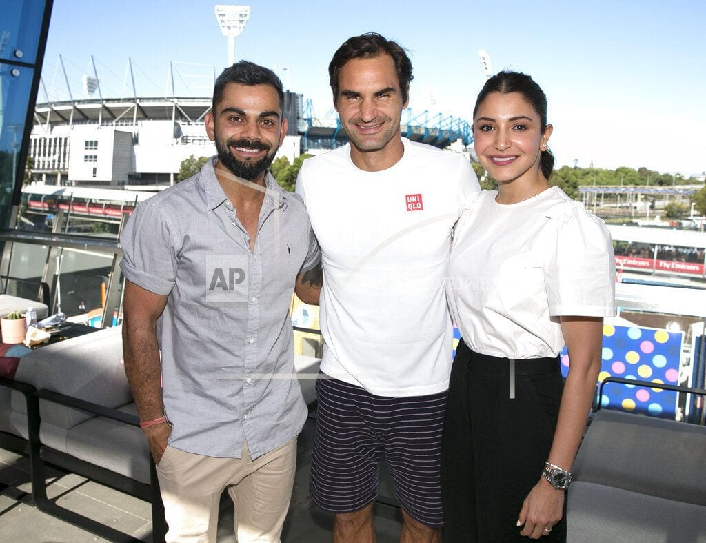 MELBOURNE, Australia | The Latest: Cricket star Kohli meets Federer at Aussie Open