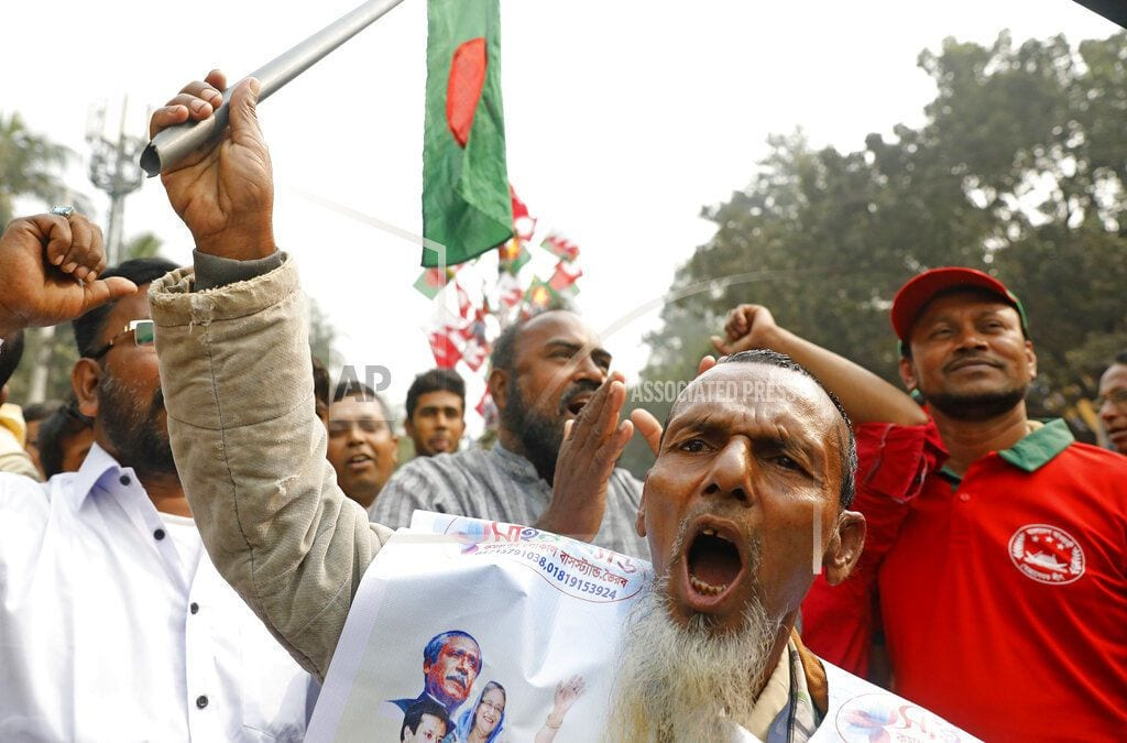 DHAKA, Bangladesh | Bangladesh PM Hasina seeks people's support at victory rally