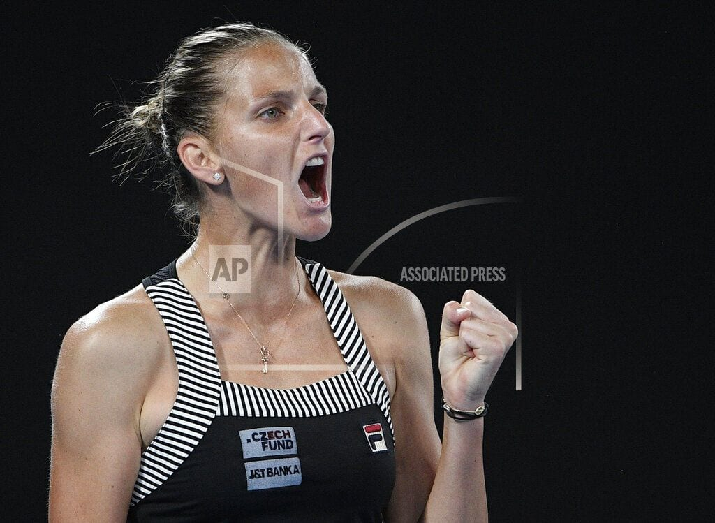 MELBOURNE, Australia | The Latest: Pliskova tops Giorgi in 3 at Australian Open