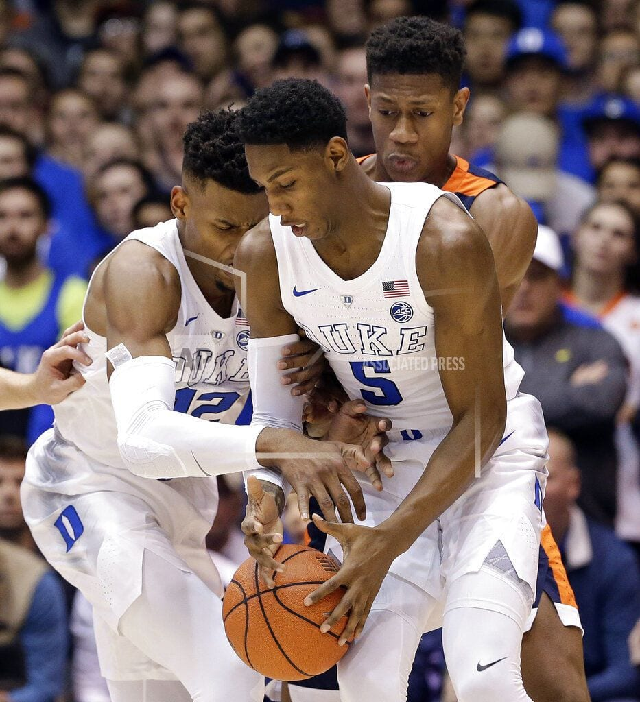 DURHAM, N.C | RJ Barrett leads No. 1 Duke past No. 4 Virginia 72-70