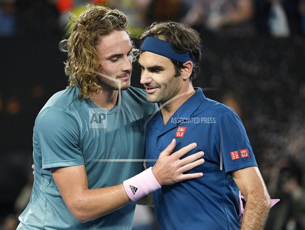 MELBOURNE, Australia | Child is father of the man: Federer loses to Tsistsipas, 20
