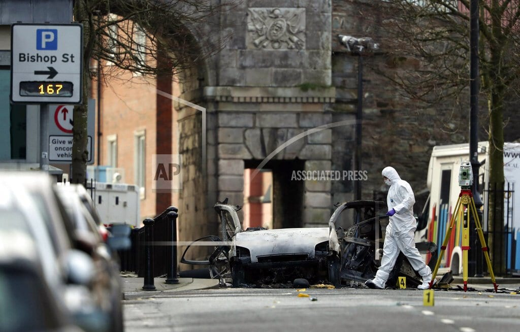 LONDON | N Ireland police deal with hijackings after weekend car bomb
