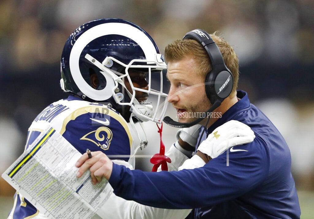 The Latest: Gurley scores TD, Rams trail 13-10 at half