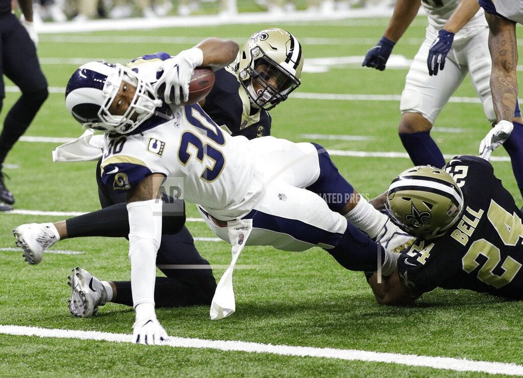 The Latest: Rams cut into deficit again, trail 20-17