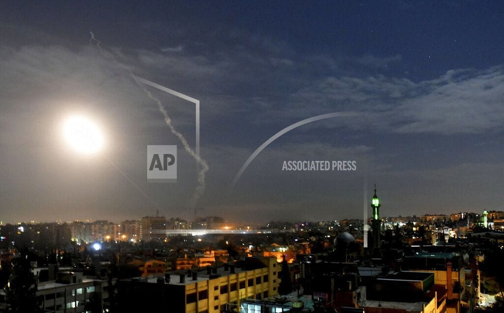 JERUSALEM | Israel says its jets struck Iranian military sites in Syria