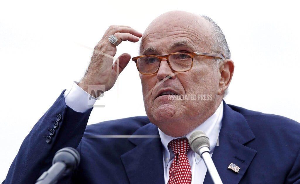 NEW YORK | AP sources: Trump, others agitated by Giuliani's performance