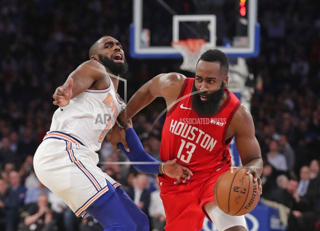 NEW YORK  | Harden scores career-best 61, Rockets edge Knicks 114-110