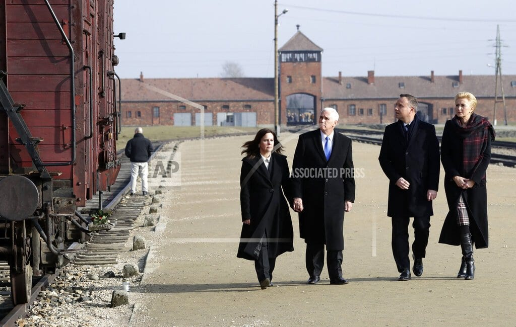 WARSAW, Poland | US Vice President Mike Pence makes his first Auschwitz visit
