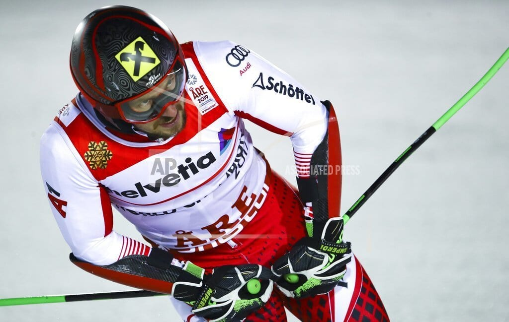 ARE, Sweden | The Latest: Hirscher leads by 0.56 seconds in slalom