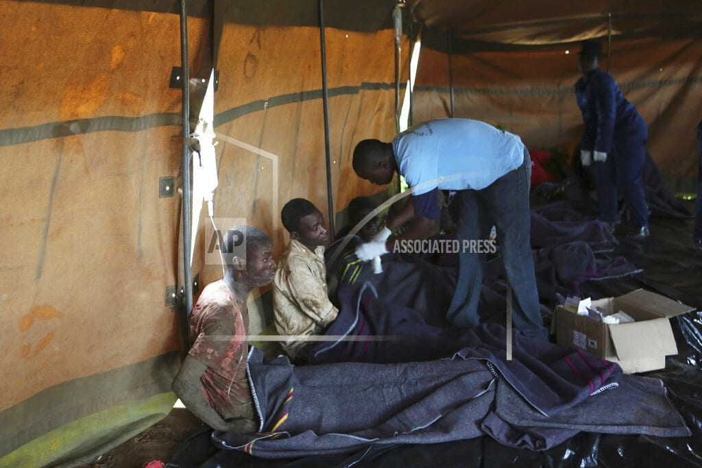 KADOMA, Zimbabwe | 8 miners rescued in Zimbabwe; others remained trapped