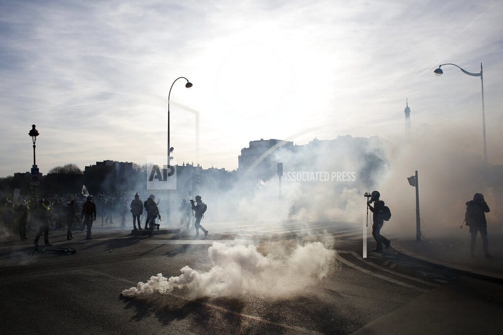 PARIS | France's yellow vests mark 3 months amid racist tensions