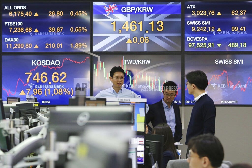 SINGAPORE | World stocks mostly rise ahead of more China-US trade talks