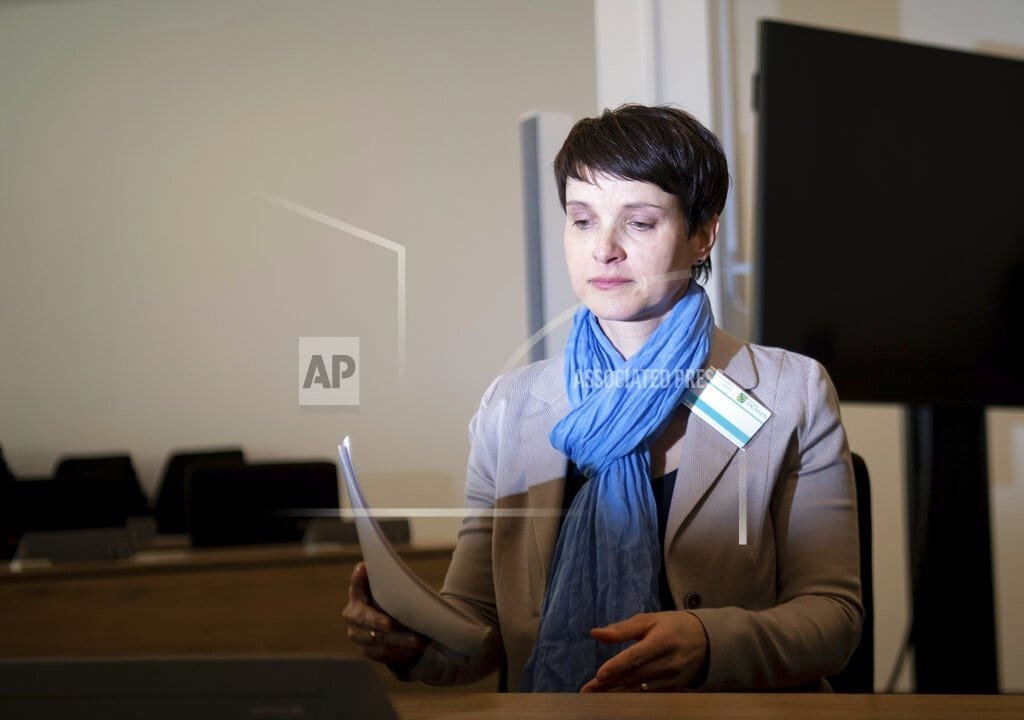 BERLIN | Former head of Alternative for Germany on trial for perjury