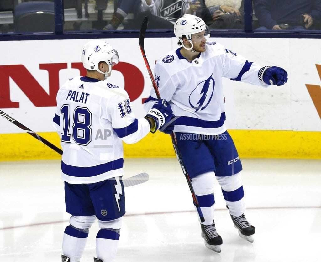 COLUMBUS, Ohio | Kucherov has 5 points, Lightning beat Blue Jackets 5-1