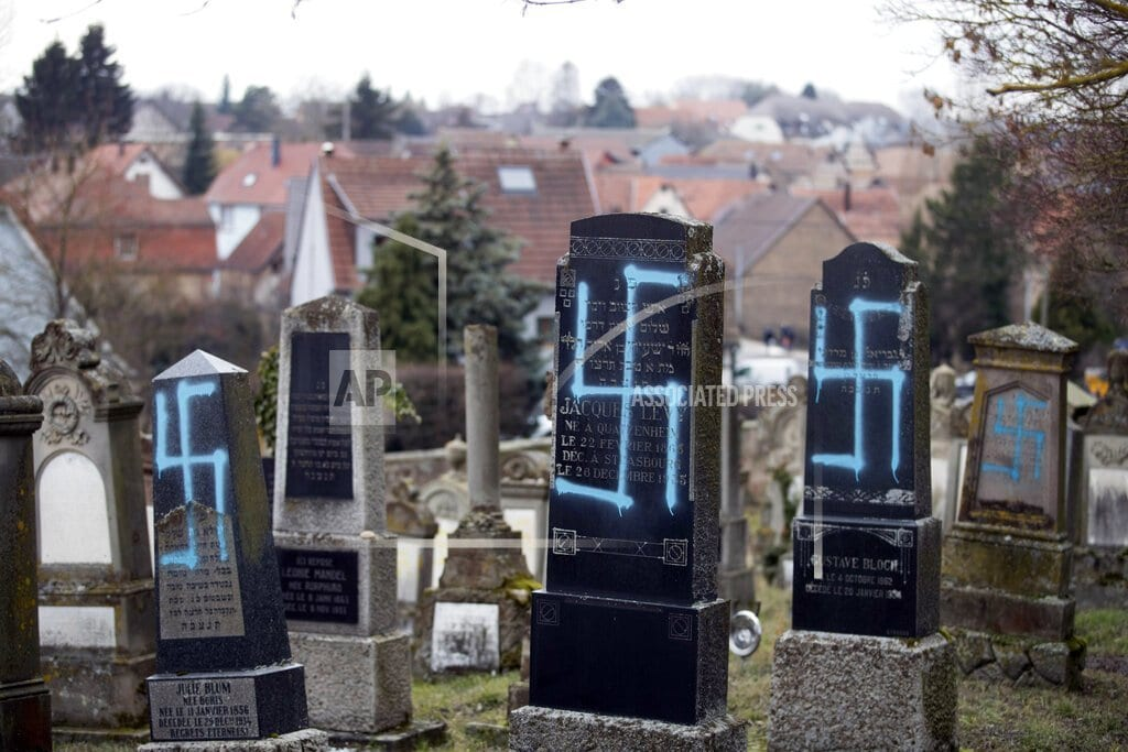 PARIS | French rally against anti-Semitism; Macron visits cemetery