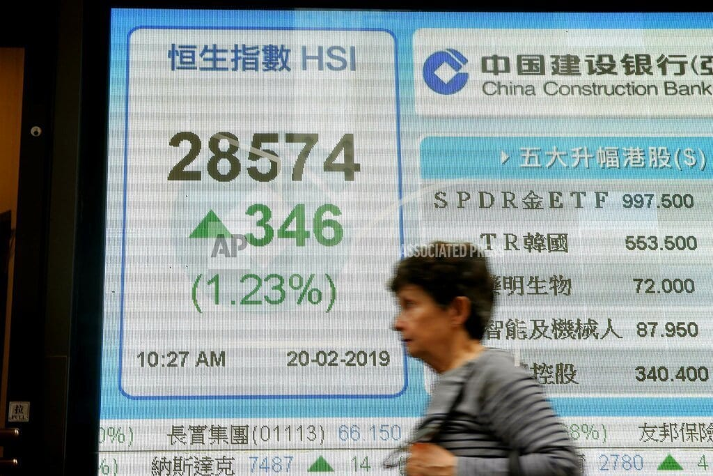 BANGKOK | Asian shares mostly higher, extending Wall St advance
