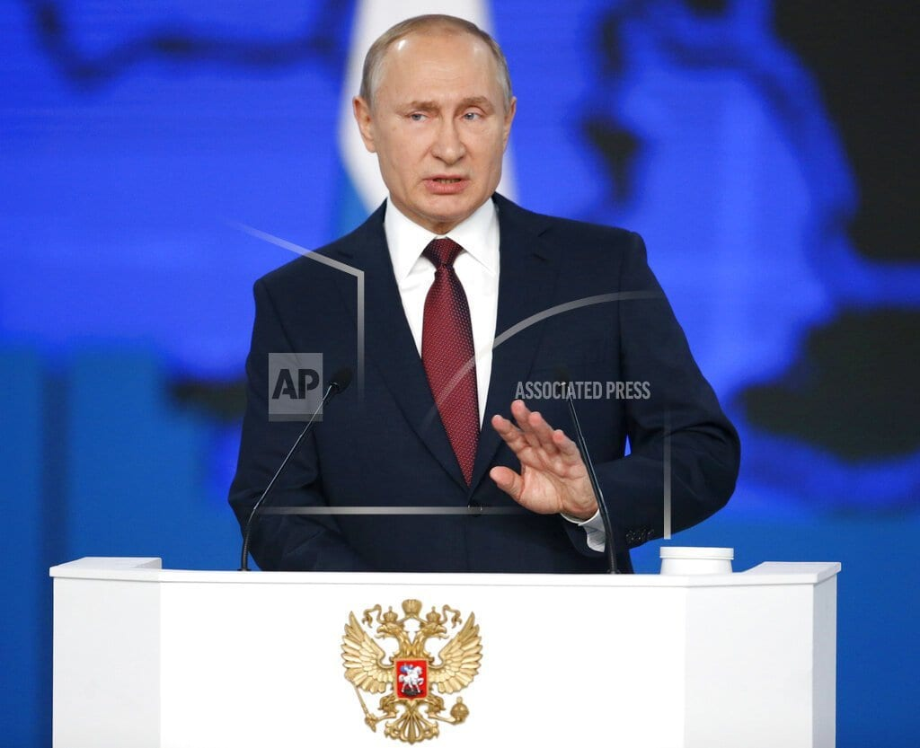 MOSCOW | Putin focuses on social issues in state-of-the-nation speech