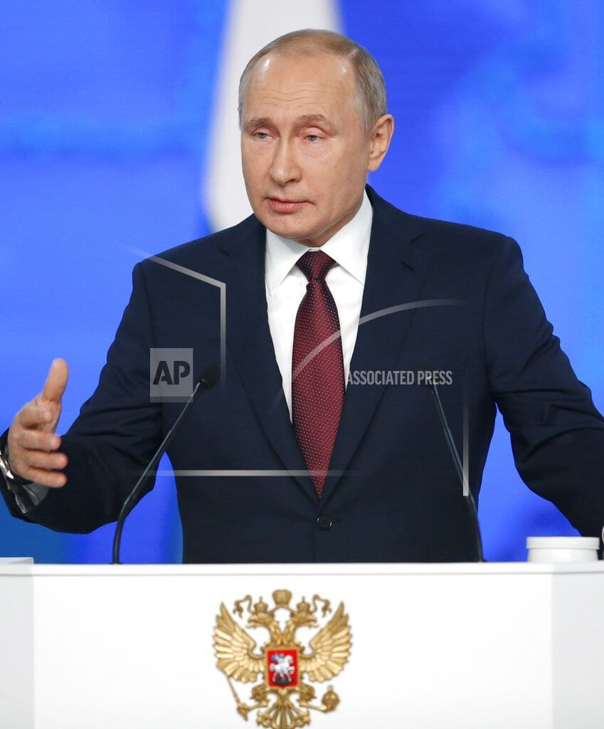 MOSCOW | The Latest: Russia to deploy new hypersonic missile to navy