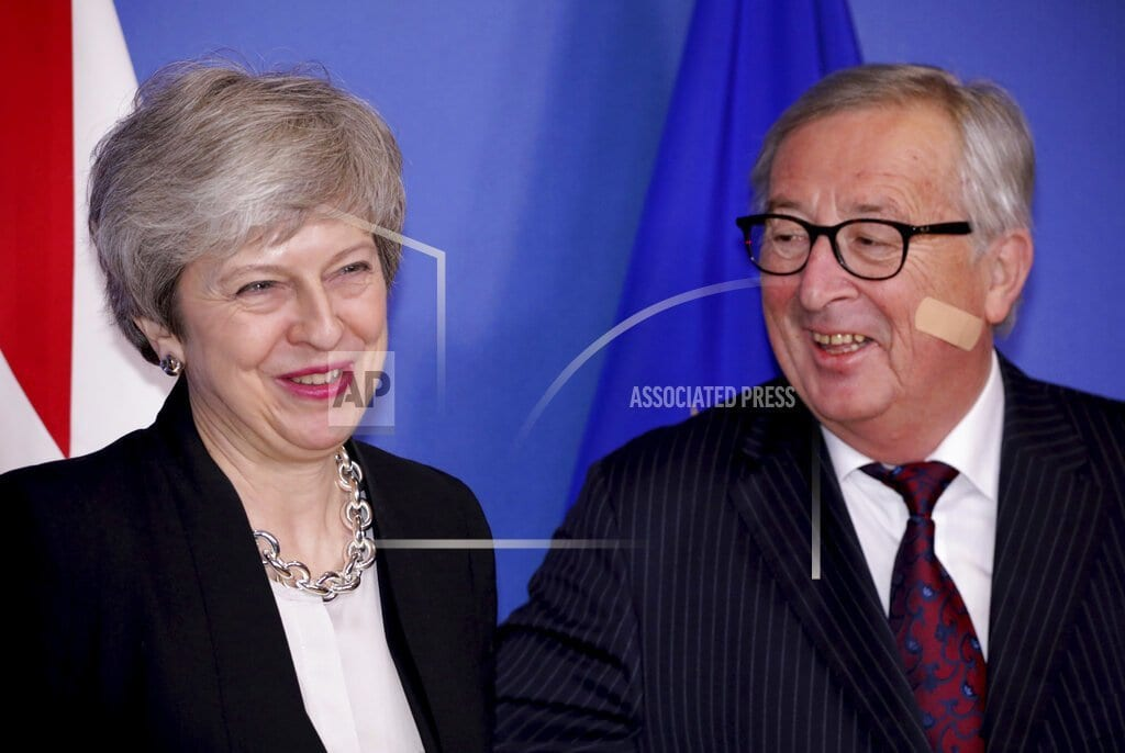 BERLIN | The Latest: UK's May, EU's Juncker say talks 'constructive'