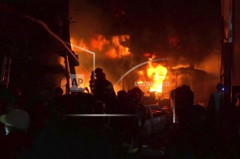 DHAKA, Bangladesh | Fire in old part of Bangladesh's capital kills at least 45