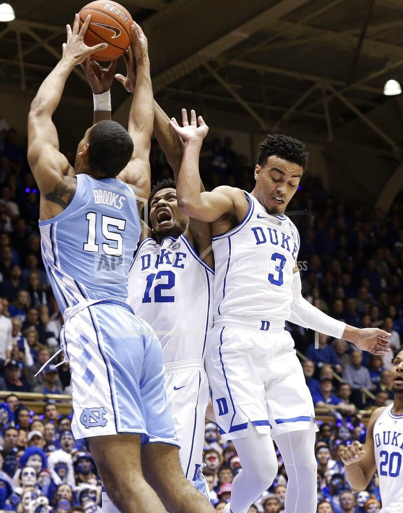 DURHAM, N.C | With Zion injured, No. 8 UNC routs No. 1 Duke 88-72