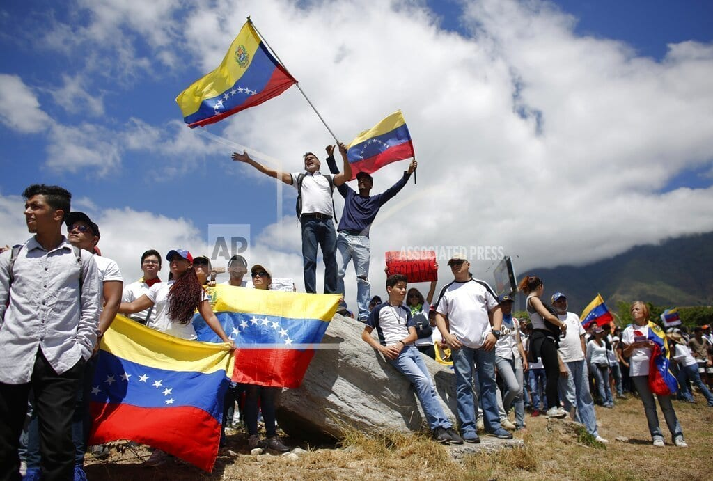 CUCUTA, Colombia | The Latest: Pompeo urges Venezuelan troops to let aid in