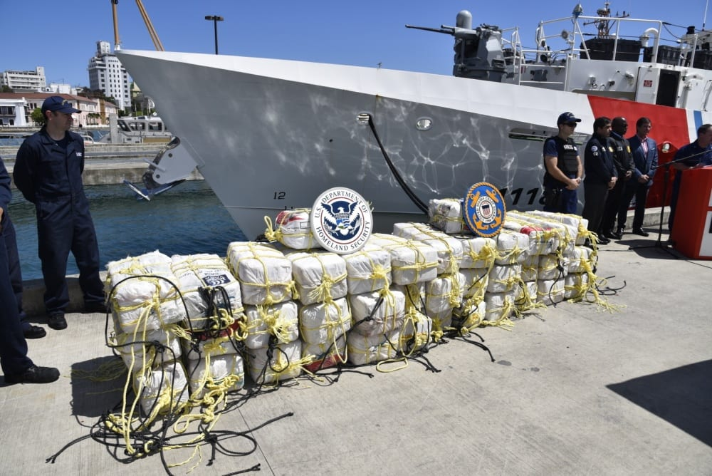 San Juan, Puerto Rico: Coast Guard, DEA, CBP agencies apprehend 3 smugglers, seize $28.5 million in cocaine