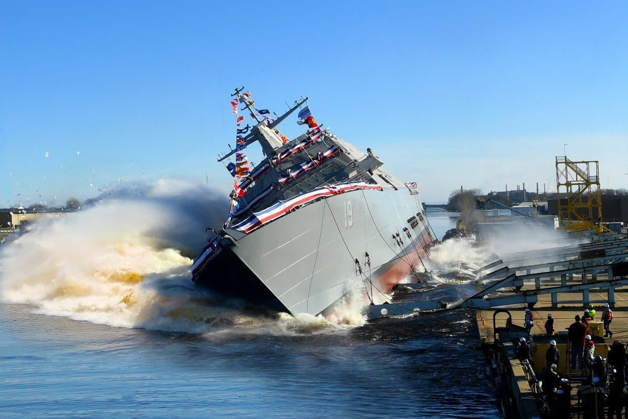 Littoral Combat Ship 21 (Minneapolis-Saint Paul) Christened, Launched