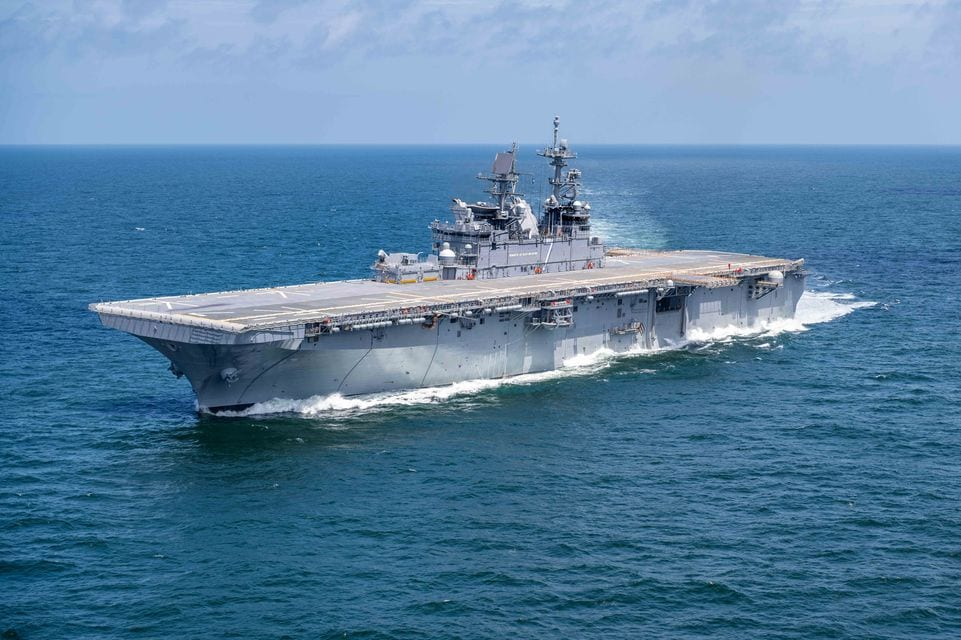 Huntington Ingalls Industries Successfully Completes Builder's Trials for Amphibious Assault Ship Tripoli (LHA 7)