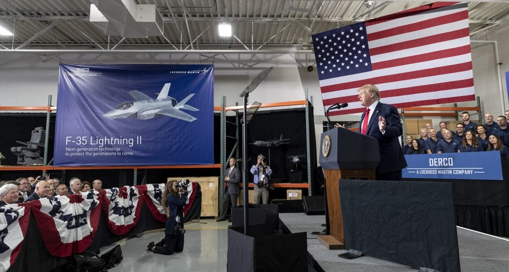 Business: President Donald J. Trump Announces F-35 Lightning II Sustainment Work Comes To Milwaukee