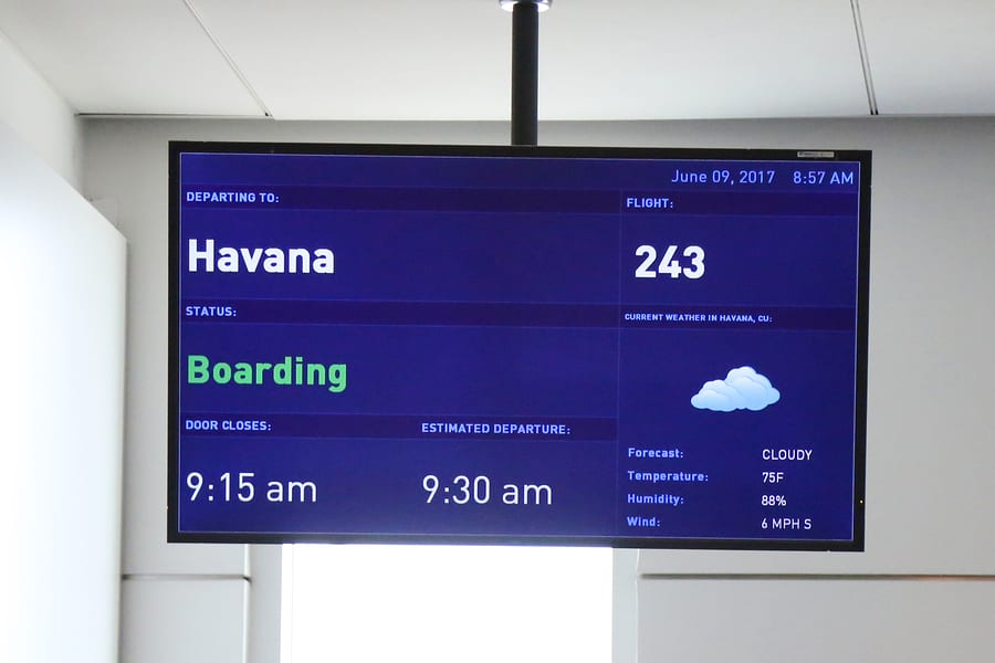 United States Restricts Scheduled Air Service to Cuban Airports