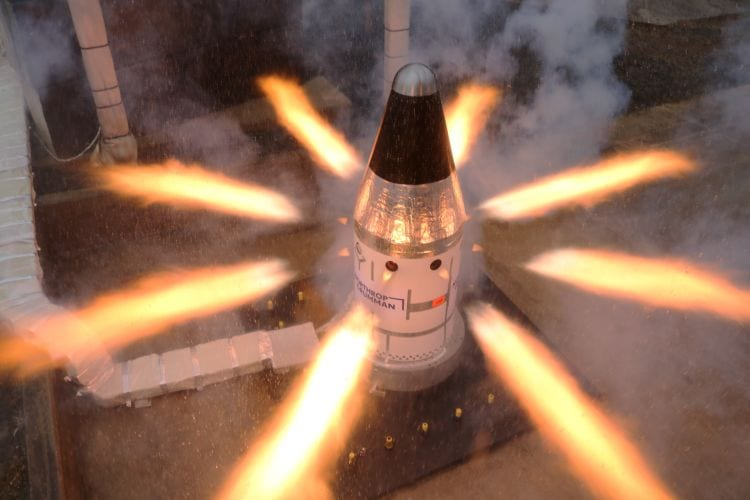 Northrop Grumman Completes Final Qualification Test for NASA's Orion Launch Abort System Attitude Control Motor